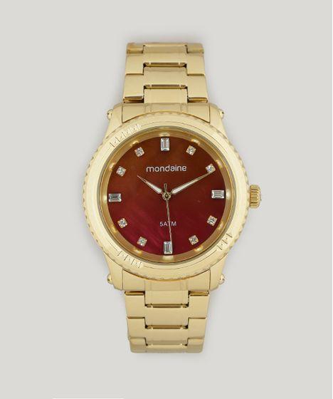6442fa5e622 Relógio Analógico Mondaine Feminino - 78719LPMVDA2 Dourado - cea