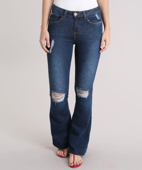 Calca-Jeans-Flare-Destroyed-Azul-Escuro-8965380-Azul_Escuro_1