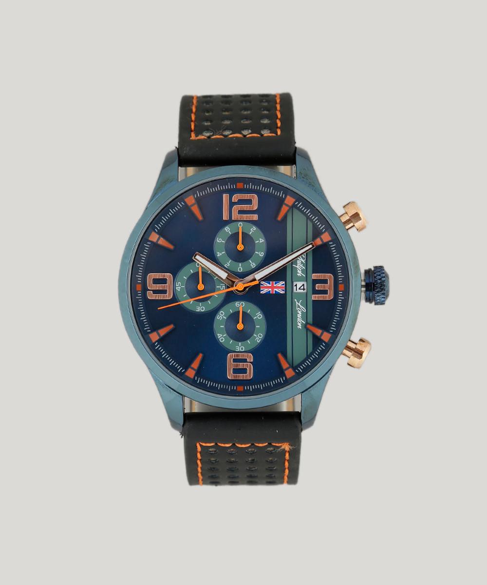 1bcb77612d1 Relógio Analógico Philiph London Masculino - PL80006632M Preto - cea