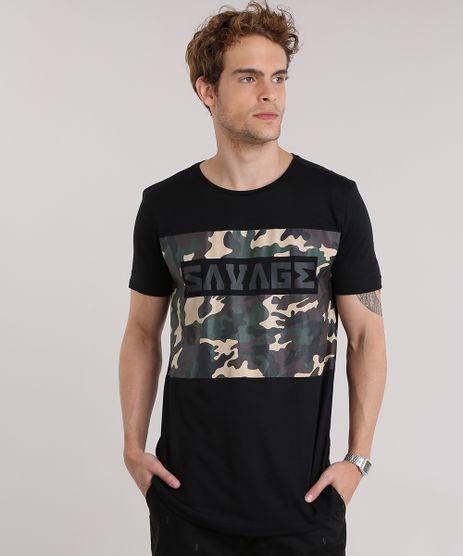 Camiseta--Savage--com-Estampa-Camuflada-Preta-8908856-Preto_1