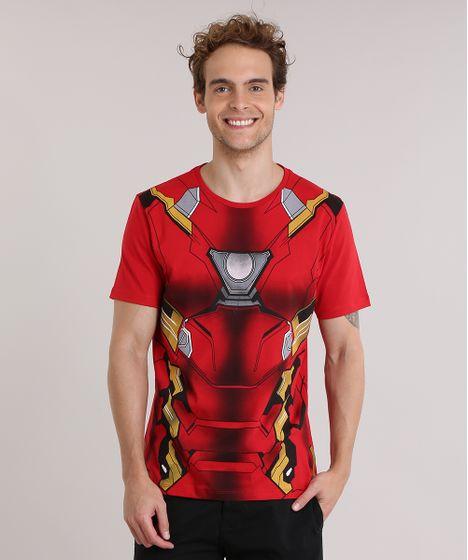 9e76eaad51 cea · Moda Masculina · Camisetas. Camiseta-Homem-de-Ferro-Vermelha-8911746-Vermelho 1  ...