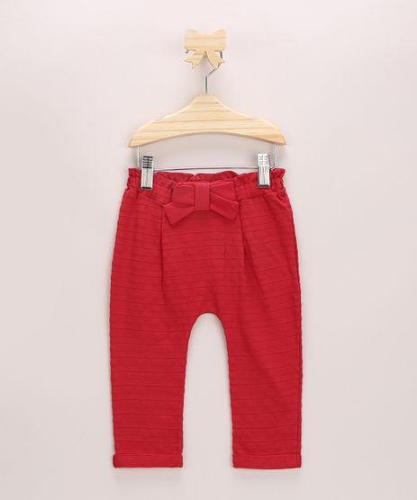 Calca-Infantil-Texturizada-com-Laco-Vermelha-9967819-Vermelho_1