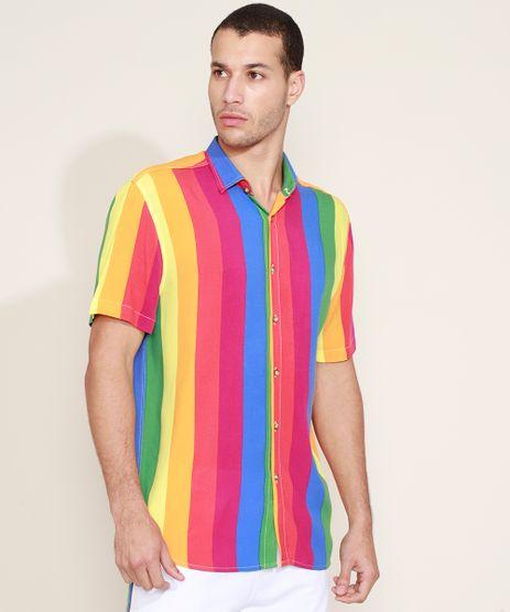 Camisa-Masculina-Tradicional-Estampada-Listrada-Pride-Manga-Curta-Multicor-9968731-Multicor_1