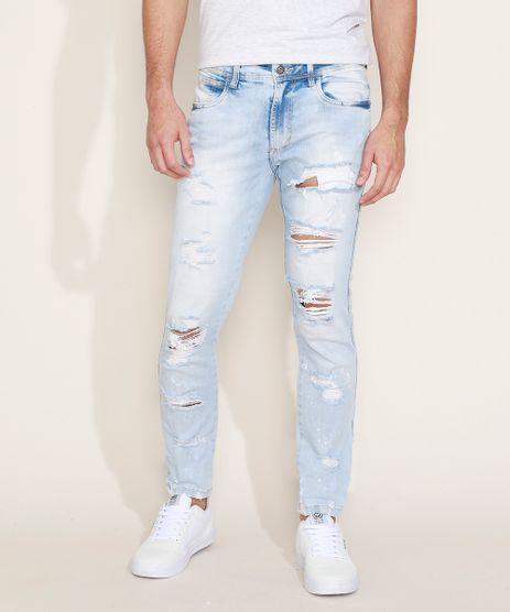 Calca-Jeans-Masculina-Skinny-Destroyed-Azul-Claro-9967823-Azul_Claro_1