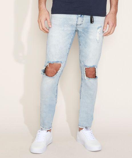 Calca-Jeans-Masculina-Skinny-Destroyed-Azul-Claro-9966116-Azul_Claro_1