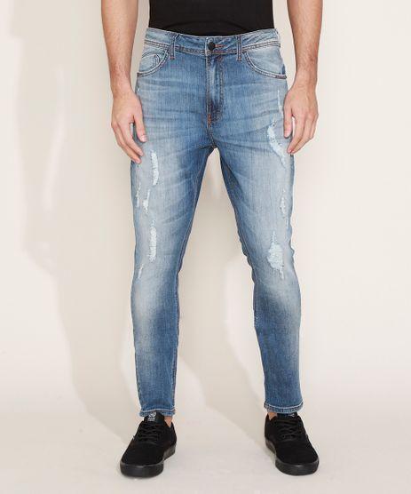 Calca-Jeans-Masculina-Carrot-Destroyed-Azul-Medio-9968765-Azul_Medio_1
