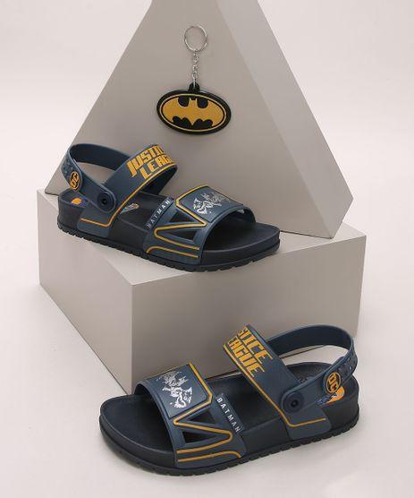 Papete-Infantil-Grendene-Batman-com-Velcro---Chaveiro-Azul-Marinho-9974201-Azul_Marinho_1