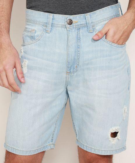 Bermuda-Jeans-Masculina-Slim-Destroyed-Azul-Claro-9966735-Azul_Claro_1