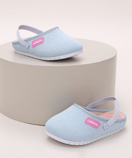 Babuche-Infantil-Molekinha-com-Elastico-e-Brilho-Azul-9973890-Azul_1