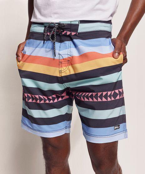 Bermuda-Surf-Masculina-Pipe-Tal-Pai-Tal-Filho-Listrado-Etnico-com-Bolsos-e-Cordao-Multicor-9970257-Multicor_1