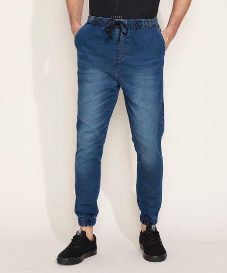 Calca-Jeans-Masculina-Jogger-com-Bolsos-Azul-Escuro-9583522-Azul_Escuro_1