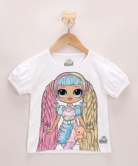 Blusa-Infantil-LOL-OMG-com-Paetes-Manga-Curta-Bufante-Decote-Redondo-Off-White-9959644-Off_White_1