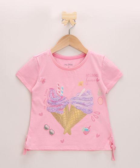 Blusa-Infantil-Sorvete-com-Paetes-com-Laco-Lateral-Manga-Curta-Decote-Redondo-Rosa-9966005-Rosa_1