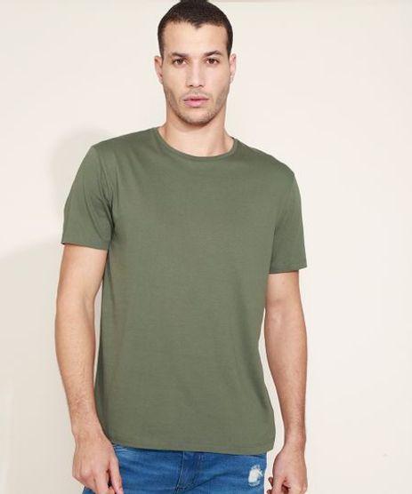 Camiseta-Masculina-Basica-Manga-Curta-Gola-Careca-Verde-8472740-Verde_1