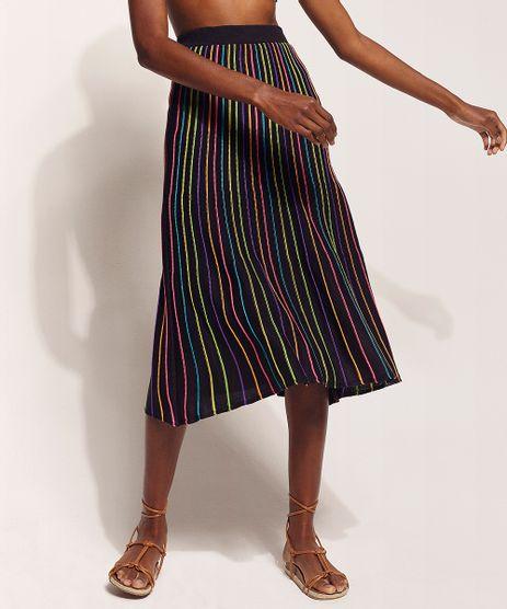 Saia-de-Trico-Feminina-Hype-Beachwear-Midi-Listrada-Preta-9962215-Preto_1