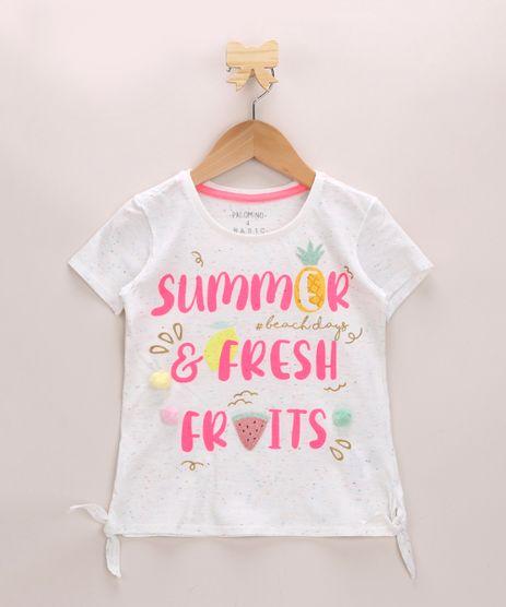 Blusa-Infantil--Summer-e-Fresh--Neon-com-No-Manga-Curta-Decote-Redondo-Off-White-9966182-Off_White_1