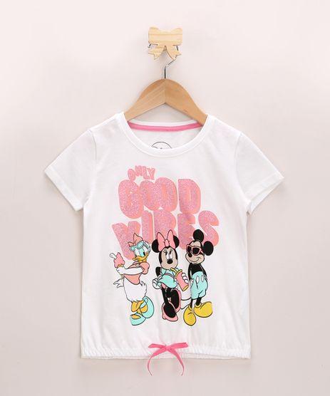 Blusa-Infantil-Minnie-com-Amigos-e-Brilho-Manga-Curta-Decote-Redondo-Off-White-9956981-Off_White_1