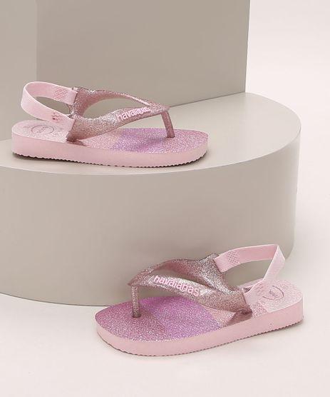 Chinelo-Infantil-Havaianas-Palette-Glow-Estampado-Listrado-com-Brilho-Elastico-Rosa-9964346-Rosa_1