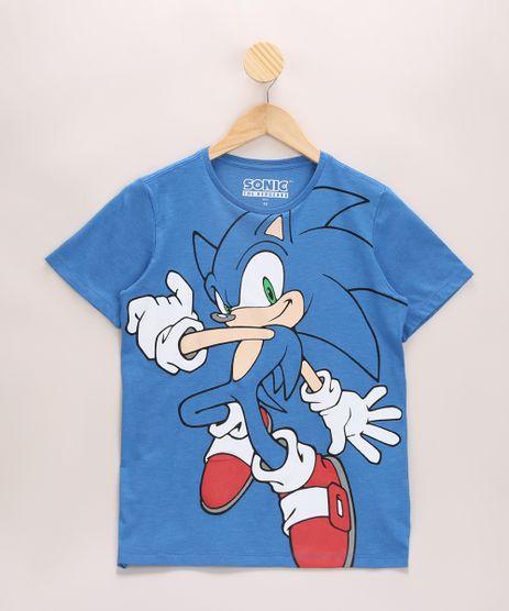 Camiseta-Infantil-Sonic-Manga-Curta-Gola-Careca-Azul-9970109-Azul_1