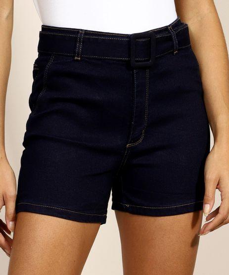Short-Jeans-Feminino-Midi-Alfaiatado-Cintura-Super-Alta-com-Bolsos-com-Cinto-Azul-Escuro-9974972-Azul_Escuro_1