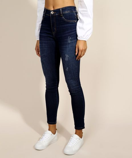 Calca-Jeans-Feminina-Super-Skinny-Sawary-Cintura-Alta-Azul-Escuro-9974660-Azul_Escuro_1