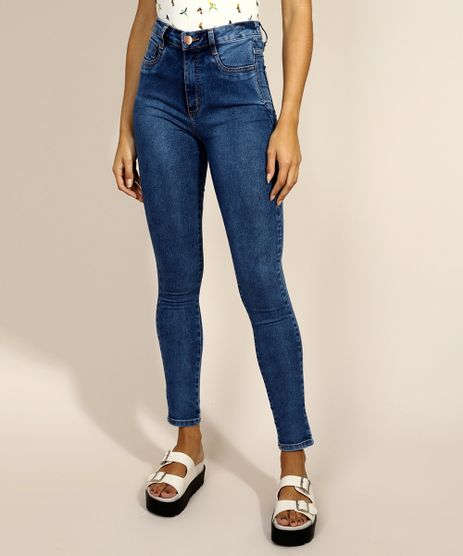 Calca-Jeans-Feminina-Sawary-Super-Skinny-Lipo-Cintura-Alta-Azul-Medio-9980096-Azul_Medio_1