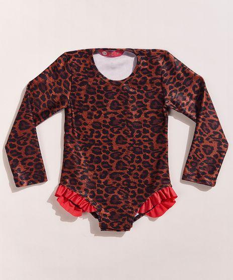 Maio-Body-Infantil-Hype-Beachwear-Estampado-Animal-Print-Onca-com-Babado-Manga-Longa-Protecao-UV50--Caramelo-9962505-Caramelo_1