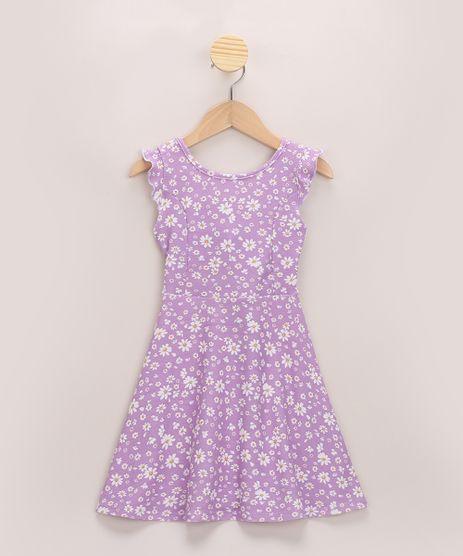 Vestido-Infantil-Estampado-Floral-com-Babado-Alca-Larga-Lilas-9966430-Lilas_1
