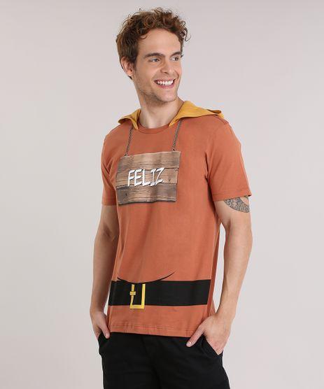 Camiseta-7-Anoes--Feliz--com-Capuz-Marrom-8933841-Marrom_1