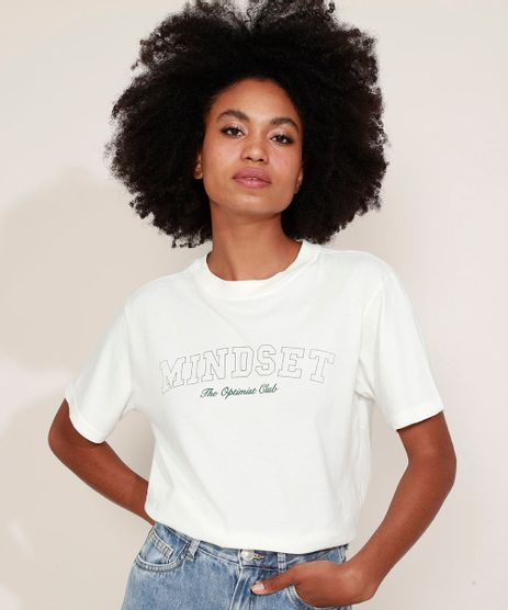 T-Shirt-Feminina-Mindset--The-Optimist-Club--Manga-Curta-Decote-Redondo-Off-White-9974958-Off_White_1