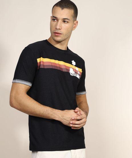 Camiseta-Masculina-com-Listra-Manga-Curta-Gola-Careca-Preto-9968466-Preto_1