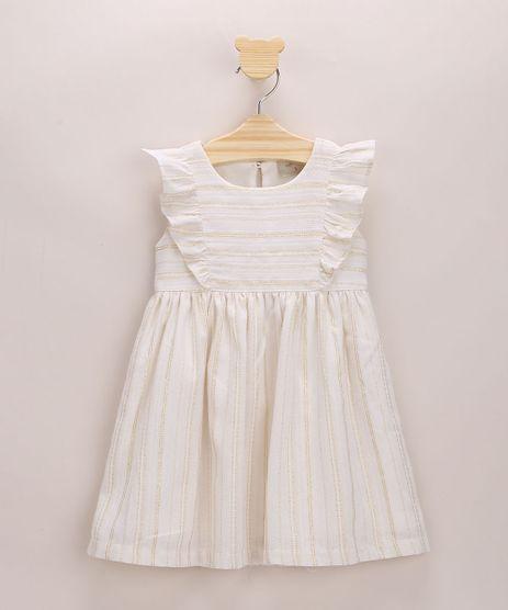 Vestido-Infantil-Listrado-com-Lurex-e-Babados-Sem-Manga-Off-White-9964375-Off_White_1