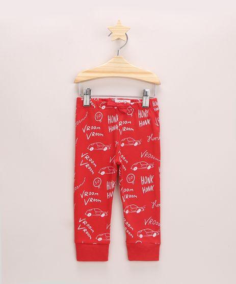 Calca-Infantil-Jogger-Estampada-de-Carrinhos-Vermelha-9957049-Vermelho_1