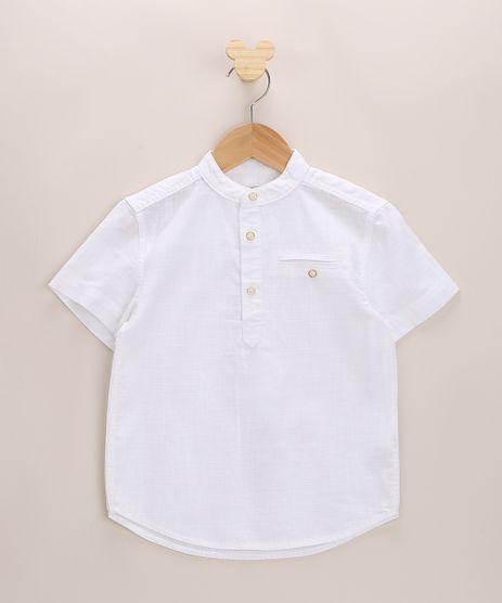 Bata-Infantil-com-Botoes-Manga-Curta-Gola-Padre-Off-White-9671174-Off_White_1