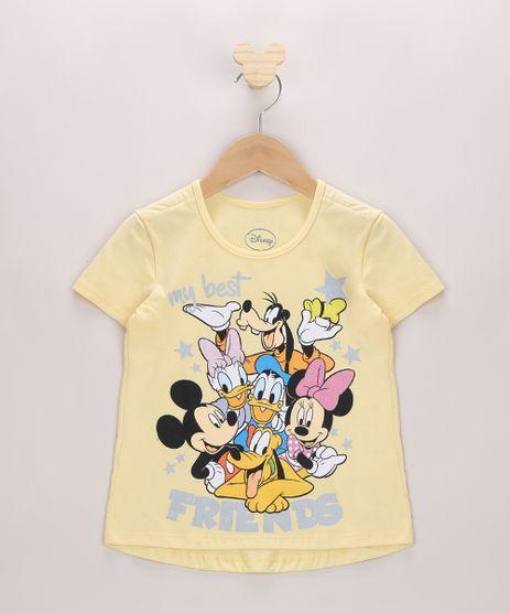 Blusa-Infantil-Turma-do-Mickey-com-Glitter-Manga-Curta-Amarela-9968364-Amarelo_1