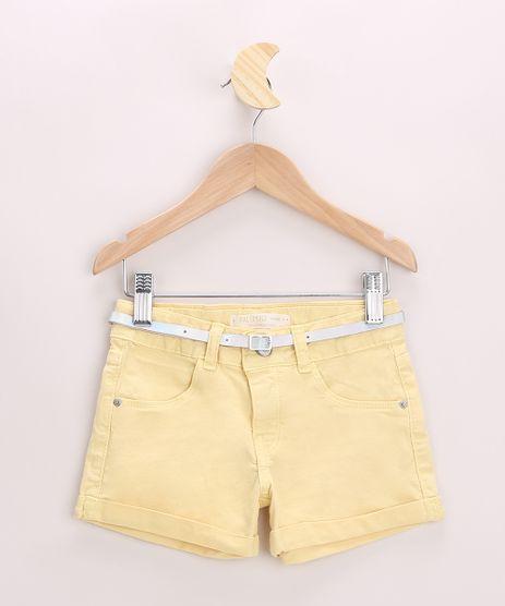 Short-de-Sarja-Infantil-com-Barra-Dobrado-e-Cinto-Amarelo-9967121-Amarelo_1