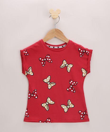 Blusa-Infantil-Estampada-de-Laco-da-Minnie-Mouse-Manga-Curta-Vermelha-9965199-Vermelho_1