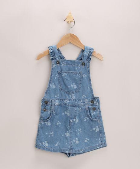 Jardineira-Jeans-Infantil-Estampada-Floral-Azul-Medio-9965546-Azul_Medio_1