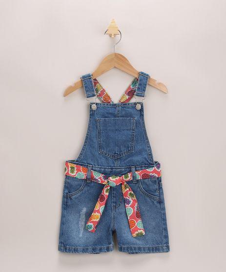 Jardineira-Jeans-Infantil-com-Faixa-para-Amarrar-Azul-Medio-9966247-Azul_Medio_1