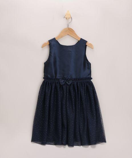 Vestido-Infantil-com-Laco-e-Tule-Sem-Manga-Azul-Marinho-9953837-Azul_Marinho_1