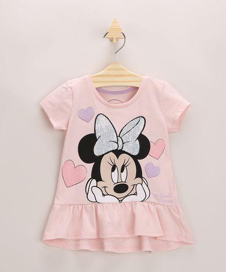 Blusa-Infantil-Minnie-Mouse-com-Paete-Manga-Curta-Rosa-9964316-Rosa_1