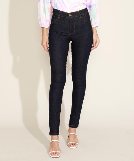 Calca-Jeans-Feminina-Sawary-Super-Skinny-Cintura-Alta-com-Bolsos-Azul-Escuro-9980103-Azul_Escuro_1