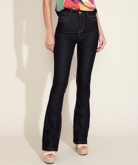 Calca-Jeans-Feminina-Flare-Push-Up-Cintura-Alta-Azul-Escuro-9980101-Azul_Escuro_1