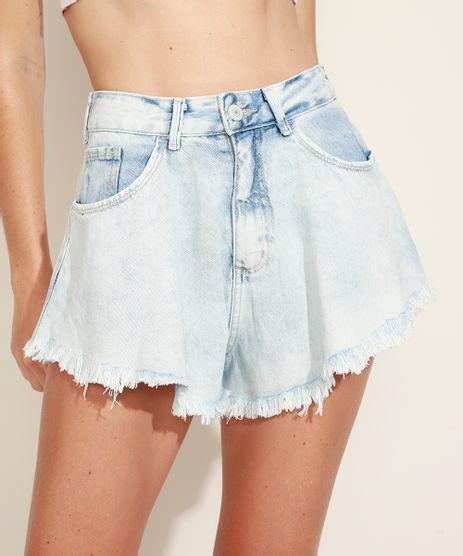 Short-Jeans-Feminino-Gode-Cintura-Super-Alta-com-Barra-Desfiada-Azul-Claro-9971196-Azul_Claro_1