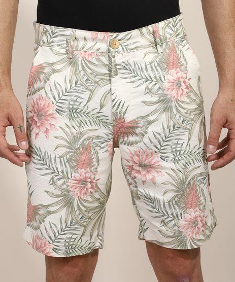 Bermuda-Masculina-Reta-Chino-Estampada-Floral-com-Linho-Off-White-9967362-Off_White_1