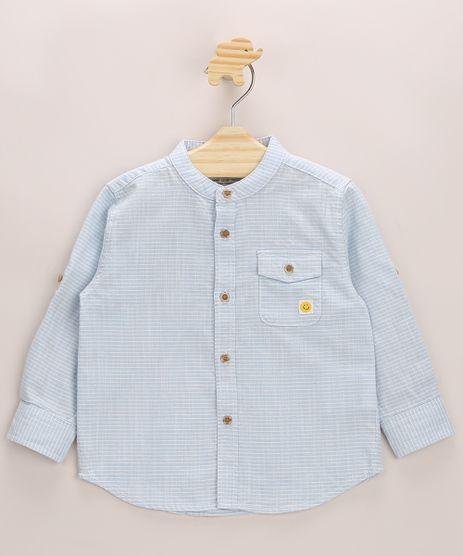 Camisa-Infantil-Estampada-Listrada-com-Bolso-Manga-Longa-Azul-9947276-Azul_1