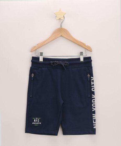 Bermuda-de-Moletom-Infantil--NYC--com-Recorte-Lateral-Azul-Marinho-9948939-Azul_Marinho_1