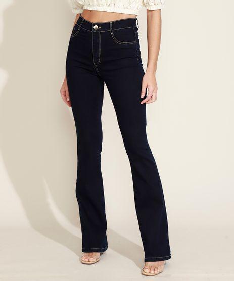 Calca-Jeans-Feminina-Flare-Sawary-Cintura-Alta-Azul-Escuro-9974662-Azul_Escuro_1