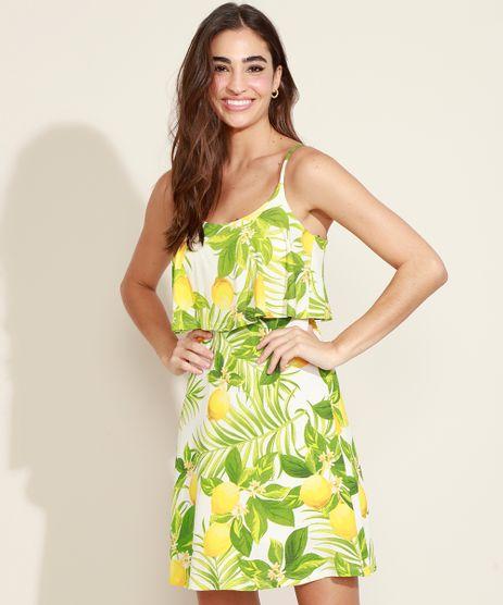 Vestido-Feminino-Curto-Estampado-de-Limoes-com-Babado-Alca-Dupla-Decote-Redondo-Off-White-9969494-Off_White_1