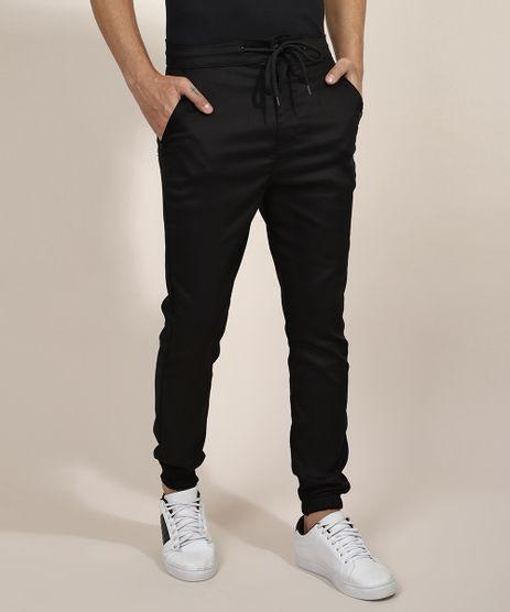 Calca-Masculina-Jogger-Skinny-com-Cordao-Preta-9967761-Preto_1
